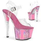 Rosa trasparente 18 cm SKY-308OF scarpe exotic pole