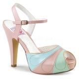 Rose 11,5 cm BETTIE-27 Pinup sandals with hidden platform