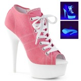 Rose Neon 15 cm DELIGHT-600SK-01 Canvas high heels chucks