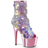 Rose Sequins 18 cm ADORE-1031SSQ pleaser ankle boots with platform