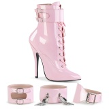 Rose Shiny 15 cm DOMINA-1023 Womens Ankle Boots for Men