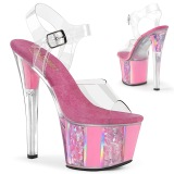 Rose transparent 18 cm SKY-308OF Exotic stripper high heel shoes