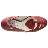 Rosso 10 cm SMITTEN-20 Pinup scarpe décolleté con tacchi bassi