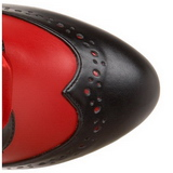 Rosso 11,5 cm TEMPT-126 Stivali stringati da bordello