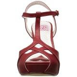 Rosso 11,5 cm retro vintage BETTIE-23 Sandali da Sera con Tacco Alto