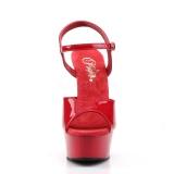 Rosso 15 cm DELIGHT-609 tacco alto pleaser con plateau