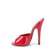 Rosso 15 cm DOMINA-101 ciabatte tacchi altissimi da uomo