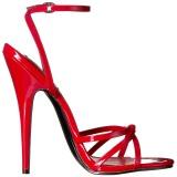Rosso 15 cm Devious DOMINA-108 sandali tacchi a spillo