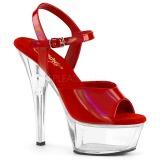 Rosso 15 cm KISS-209BHG Plateau Calzature Tacchi Alti