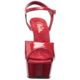 Rosso 15 cm Pleaser DELIGHT-609 high heels scarpe con plateau
