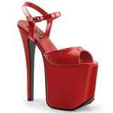 Rosso 18,5 cm Devious TRAMP-709 Feticismo Calzature Tacchi Alti