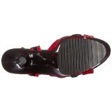 Rosso 18 cm Pleaser MOON-728 Platform High Heel Scarpe