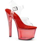 Rosso 18 cm SKY-308T Acrilico plateau sandali donna con tacco
