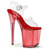 Rosso 20 cm FLAMINGO-808T scarpe da cubista e poledance pleaser