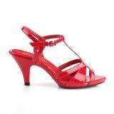 Rosso 8 cm Fabulicious BELLE-322 sandali tacchi bassi