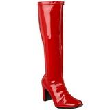 Rosso 9,5 cm FUNTASMA KIKI-350 Stivali vernice tacchi larghi