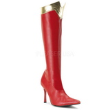 Rosso 9,5 cm WONDER-130 Stivali Altissimi Donna