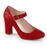 Rosso 9 cm SABRINA-07 scarpe décolleté con tacco spesso