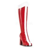 Rosso Bianco 8 cm GOGO-305 Stivali Altissimi Donna