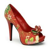 Rosso Floreale 13 cm LOLITA-11 Scarpe da donna con tacco altissime