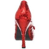 Rosso Lustrini 11,5 cm OZ-06 Scarpe Décolleté da Sera