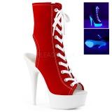 Rosso Neon 15 cm DELIGHT-1016SK Scarpe da ginnastica con tacco in tela