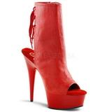 Rosso Opaco 15 cm DELIGHT-1018 Plateau Stivaletti Donna