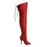 Rosso Pelle 13 cm LEGEND-8899 stivali overknee tacco alto