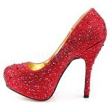 Rosso Pietre Scintillanti 13,5 cm FELICITY-20 Scarpe donna tacco altissime