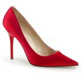 Rosso Raso 10 cm CLASSIQUE-20 Scarpe Décolleté Tacco Stiletto