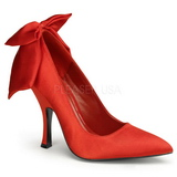 Rosso Raso 12 cm BOMBSHELL-03 Scarpe Décolleté Tacco Basso