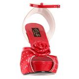 Rosso Raso 12 cm PINUP retro vintage BETTIE-06 Plateau Tacchi Alti a Spillo