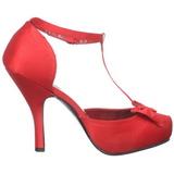 Rosso Raso 12 cm retro vintage CUTIEPIE-12 scarpe décolleté con tacchi bassi