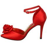 Rosso Raso 9,5 cm ROSA-02 Sandali Donna con Tacco