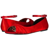 Rosso Raso ANNA-03 grandi taglie scarpe ballerine