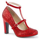 Rosso Scintillare 10 cm QUEEN-01 grandi taglie scarpe décolleté