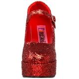Rosso Scintillare 11 cm MARYJANE-50G Scarpe Décolleté Mary Jane