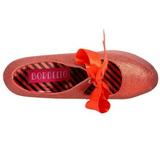 Rosso Scintillare 14,5 cm Burlesque TEEZE-04G Scarpe da donna con tacco altissime