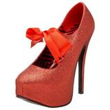 Rosso Scintillare 14,5 cm TEEZE-04G Scarpe da donna con tacco altissime