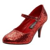 Rosso Scintillare 7,5 cm GLINDA-50G Scarpe Décolleté Mary Jane