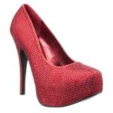 Rosso Strass 14,5 cm TEEZE-06RW scarpe décolleté per piedi larghi da uomo