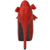 Rosso Strass Cristallo 14,5 cm Burlesque TEEZE-04R Plateau Scarpe Décolleté