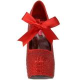 Rosso Strass Cristallo 14,5 cm TEEZE-04R Plateau Scarpe Décolleté