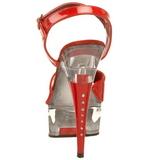 Rosso Trasparente 15 cm CAPTIVA-609 Plateau Tacchi Alti a Spillo