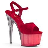 Rosso Velluto 18 cm ADORE-709MCT sandali da pole dance