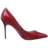 Rosso Vernice 10 cm CLASSIQUE-20 scarpe tacchi a spillo con punta