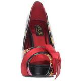 Rosso Vernice 11,5 cm BETTIE-13 Scarpe Décolleté Punta Aperta