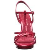 Rosso Vernice 12 cm FLAIR-420 scarpe tacco alto numeri grandi per uomo