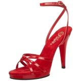 Rosso Vernice 12 cm FLAIR-436 Sandali Donna con Tacco