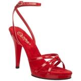 Rosso Vernice 12 cm FLAIR-436 scarpe tacco alto numeri grandi per uomo